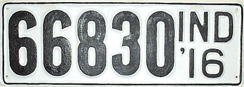 1916 License Plate