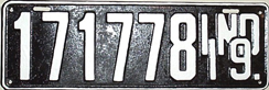 1919 License Plate