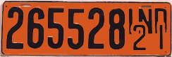 1921 License Plate