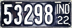 1922 License Plate