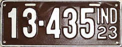 1923 License Plate