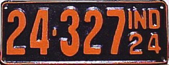 1924 License Plate