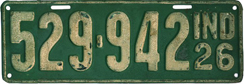 1926 License Plate