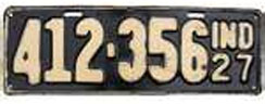 1927 License Plate