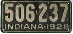 1928 License Plate