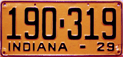 1929 License Plate