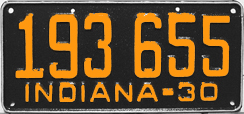 1930 License Plate