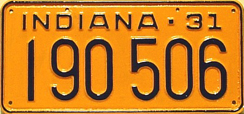 1931 License Plate