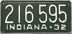 1932 License Plate