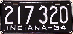 1934 License Plate