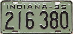1935 License Plate