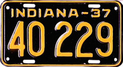 1937 License Plate