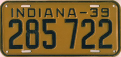 1939 License Plate