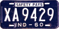 1960 License Plate