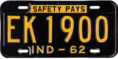 1962 License Plate