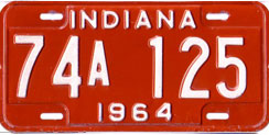 1964 License Plate