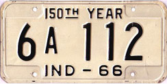 1966 License Plate