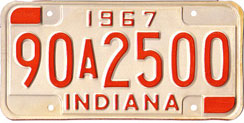 1967 License Plate
