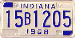 1968 License Plate