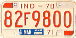 1970 License Plate
