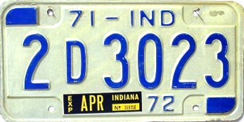 1971 License Plate