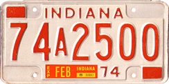 1973 License Plate