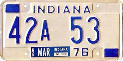 1975 License Plate