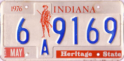 1976 License Plate