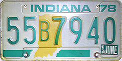 1977 License Plate