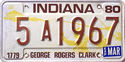 1979 License Plate