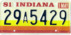 1980 License Plate