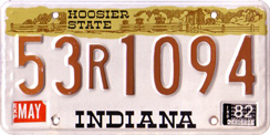 1981-1983 License Plate