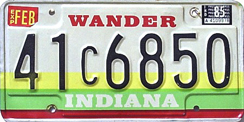 1984-1986 License Plate