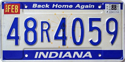 1987-1989 License Plate