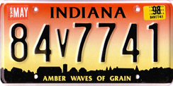 1993 - 1997 License Plate