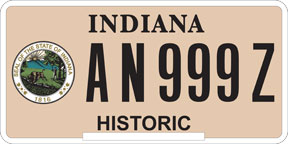 Antique Car Or Motorcycle License Plate