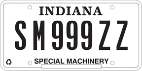 Special Machinery License Plate