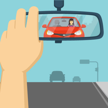 pay attention during driving exam