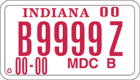 motor driven cycle class B license plate