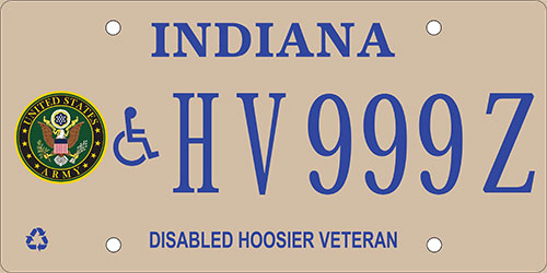 Disabled Army Veteran Plate