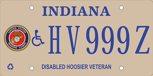 Disabled Marine Corps Veteran Plate