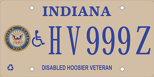 Disabled Navy Veteran Plate