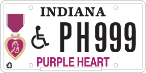 Purple Heart Disability Plate