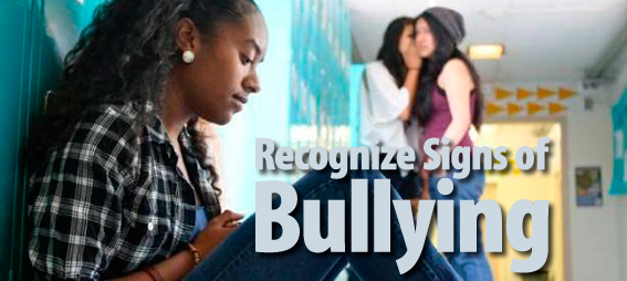 Recognize Signs of Bullying