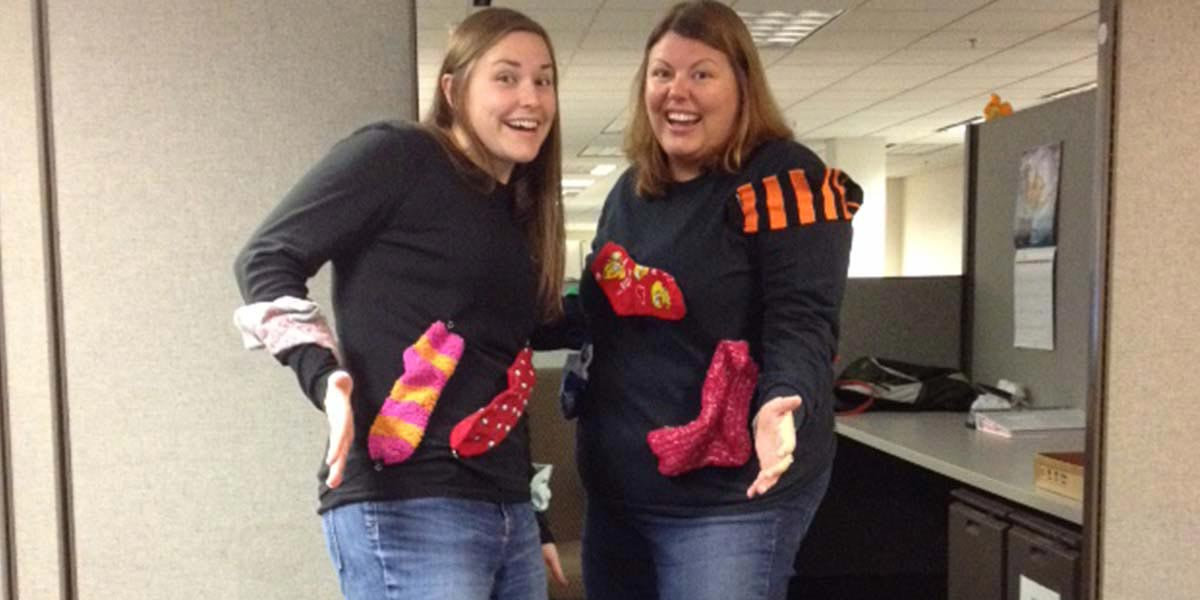 "DCS employees raise money for favorite charity ""Sock Day"" and 5K"