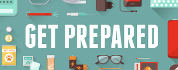 Get Prepared words with items around