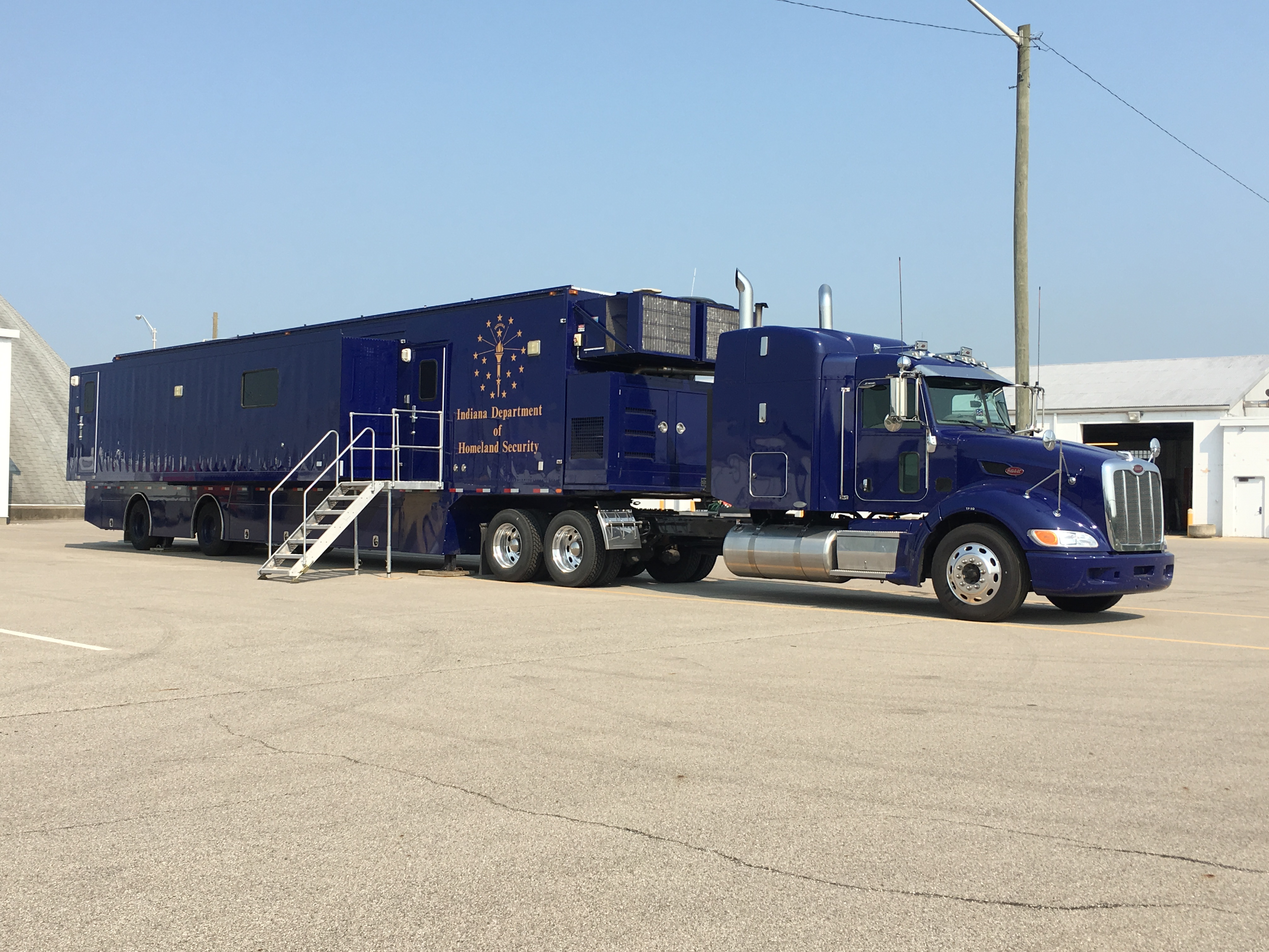 mobile command center outside view
