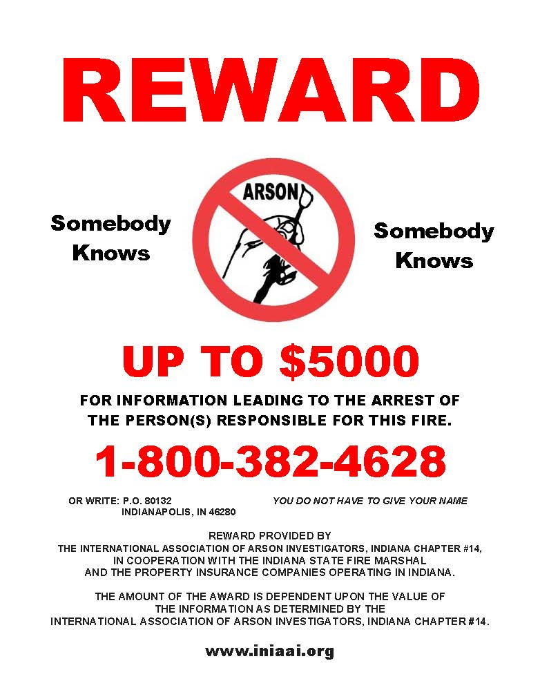 Lawrence county fire reward flyer