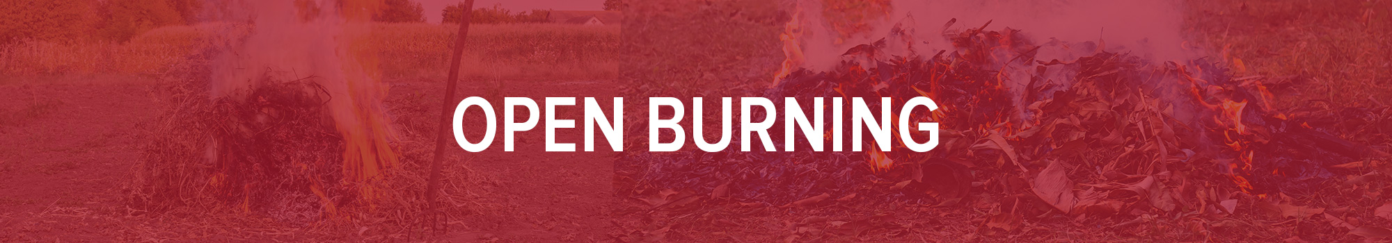 open burning illustration banner