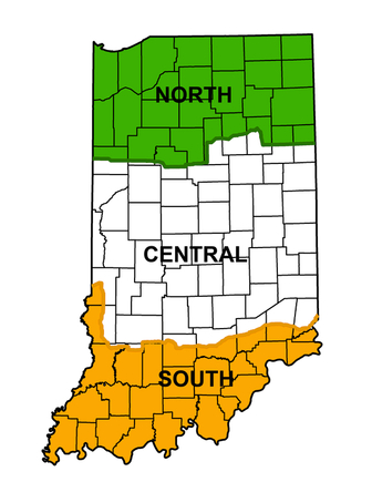 Waterfowl zones, north, central, south map